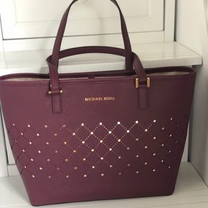 Michael Kors leather tote and card holder